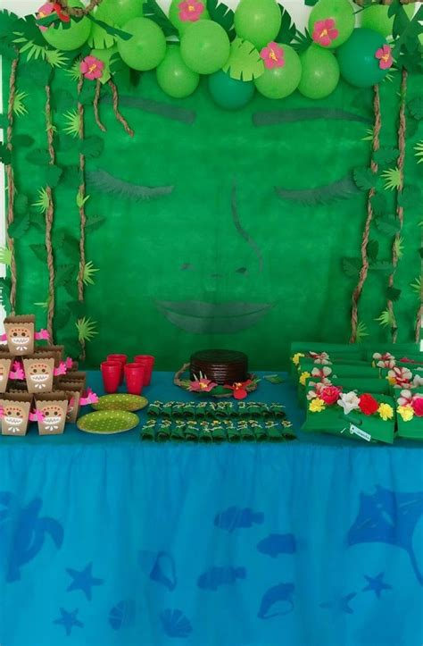 diy moana returns  heart  te fiti birthday party