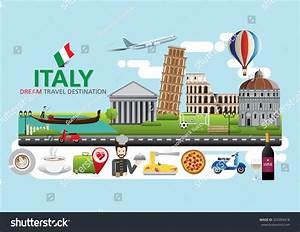 Italy Travel Destination Concept Travel Design Stock ...