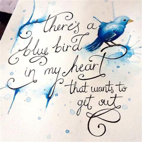 blue bird   heart tattoo design