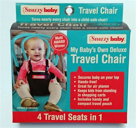 Award Winning My Babys Own Deluxe Travel Chair Snazzy Baby