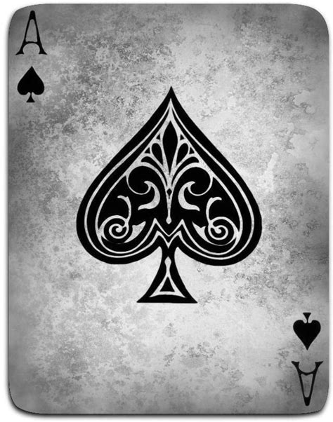 Framed Print - Vintage Style Ace Of Spades Playing Card (Picture Poster Art) #ebay #Home