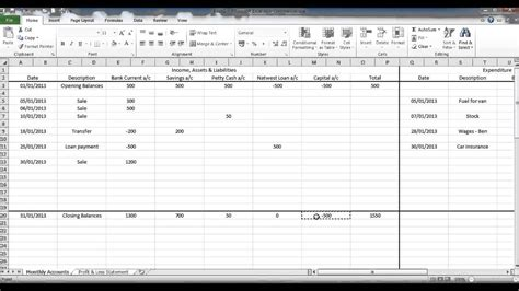 Bookkeeping Resume Exle by Create A Bookkeeping Spreadsheet Using Excel Part 6