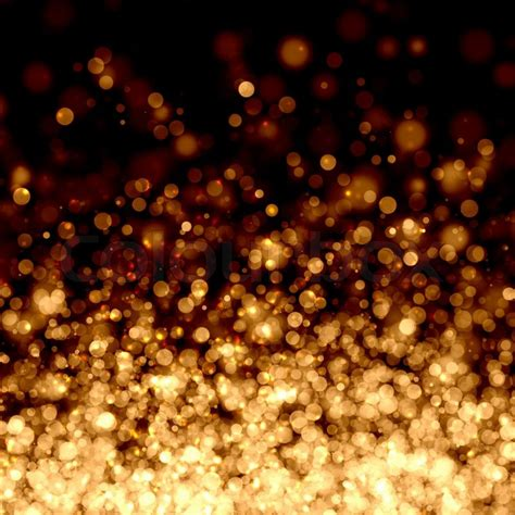 black and gold christmas lights gold abstract light background stock photo colourbox