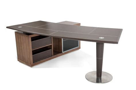 contemporary bureau desk modrest t093 modern office desk and side storage cabinet