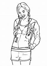 Celebrity Hannah Montana Coloring Pages Books Printable Last Q2 sketch template