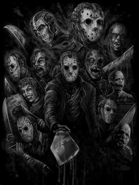 Friday The 13th Jason Voorhees Horror Collage