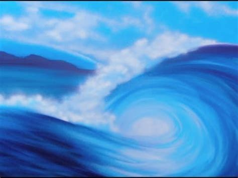 Surfing a spray painted wave - YouTube