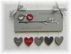Türschilder Holz Familie : t rschild v gel grau rot t r namensschilder ~ Lizthompson.info Haus und Dekorationen