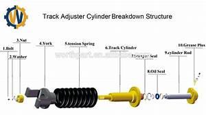 Excavator Js220 Track Tension Adjuster Assembly