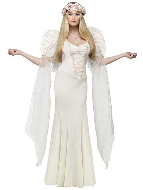 eleganter engel damenkostuem weihnachten elfenbein guenstige faschings kostueme bei karneval