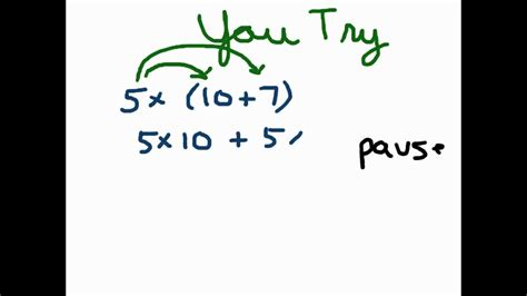 Distributive Property Of Multiplication Youtube