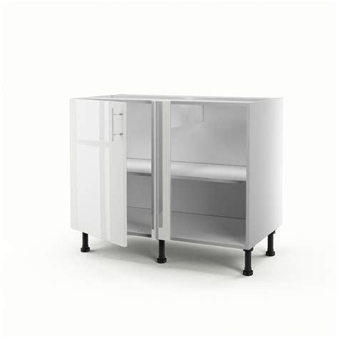 porte meuble cuisine leroy merlin meuble de cuisine bas d 39 angle blanc 1 porte h 70 x l