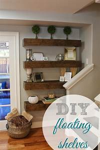 floating shelves ideas simply organized: Simple DIY: Floating Shelves Tutorial + Decor Ideas