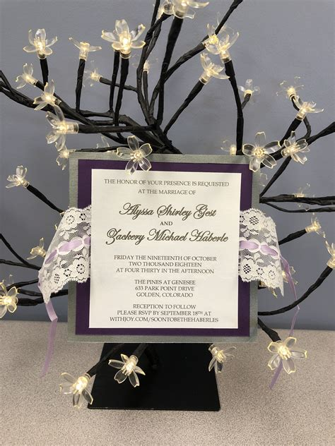 personalized lace wedding invitation  images lace