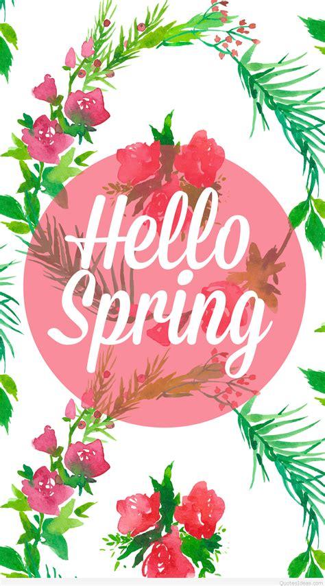 Hello Spring Wallpaper Hd