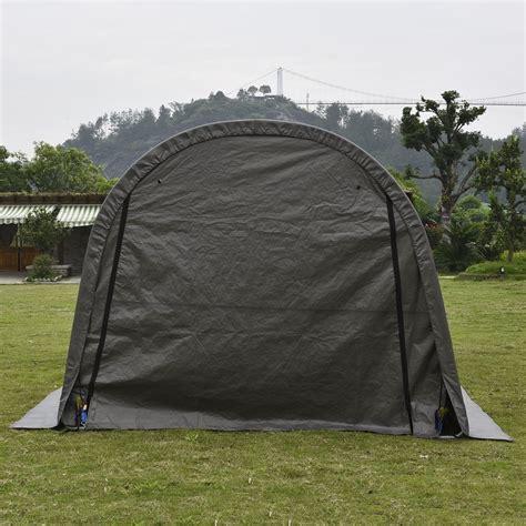 outdoor  ft heavy duty grey carport portable garage storage shed canopy walmartcom