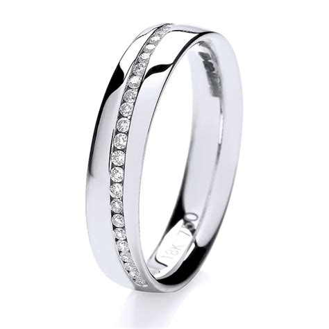 ct white gold crossover diamond wedding ring hockley