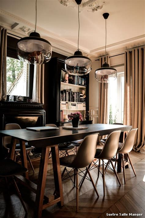 chaise moderne de salle a manger lustre salle manger with contemporain salle à manger