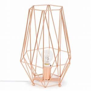 Lampe Rose Gold : lampe en m tal h 29 cm copper cuivre or rose pinterest maison du monde origami et lampes ~ Teatrodelosmanantiales.com Idées de Décoration