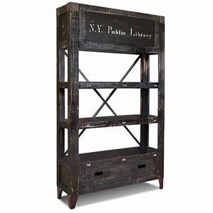 Etagere Style Industrielle : tag re arri re bar de style biblioth que industrielle ~ Teatrodelosmanantiales.com Idées de Décoration