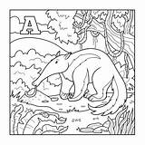 Anteater Coloring Letter Animal Illustration Pages Games Colorless Toy Facts Aardvark Alphabet Template Educational Xenops Theater Sheets Sheet Ant Children sketch template