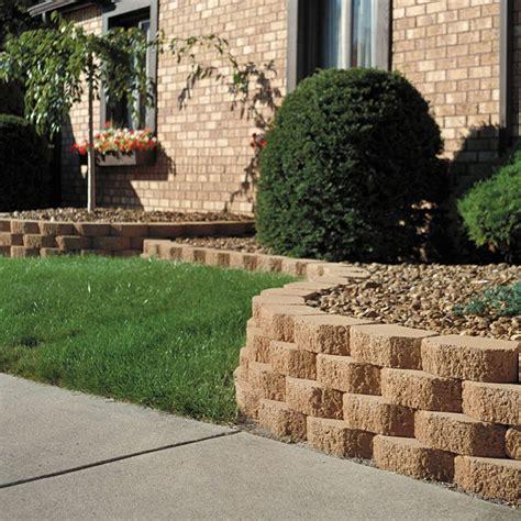 Garden Retaining Wall by Keystone Garden Walls Retaining Blocks Lawn Edging