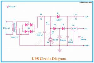 Circuit Diagram Of Ups Or Uninterruptible Power Supply