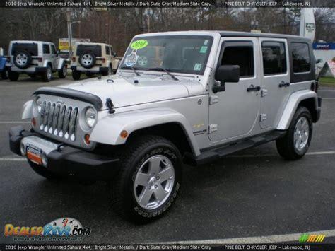 jeep sahara silver 2010 jeep wrangler unlimited sahara 4x4 bright silver