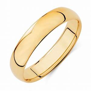 Men39s Wedding Band In 10ct Yellow Gold