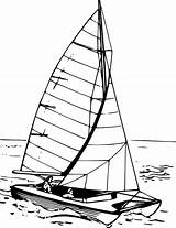 Catamaran Sailboat Clipart Boat Vector Water Drawing Svg Difference Spot Getdrawings Transparent Number Game Icon sketch template