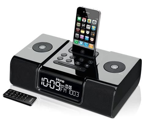 iphone clock radio ihome ip9 clock radio audio system for iphone ipod