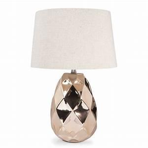 Lampe En Cuivre : lampe en c ramique cuivr h 43 cm pineapple copper maisons du monde ~ Carolinahurricanesstore.com Idées de Décoration
