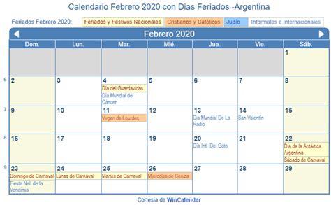 carnaval calendario