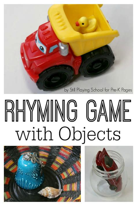 rhyming with household objects pre k pages 692 | preschool rhyming game