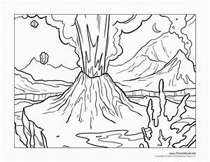 Volcano Coloring Pages Artwork In 2018 Pinterest