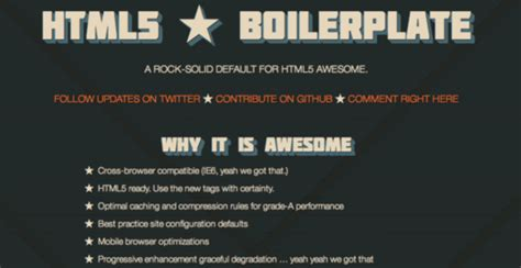 boilerplate template announcing html5 boilerplate paul