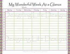 week at glance template calendar template 2016 With day at a glance calendar template