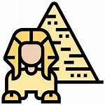 Giza Egypt Pyramid Sphinx Icon Ancient Icons