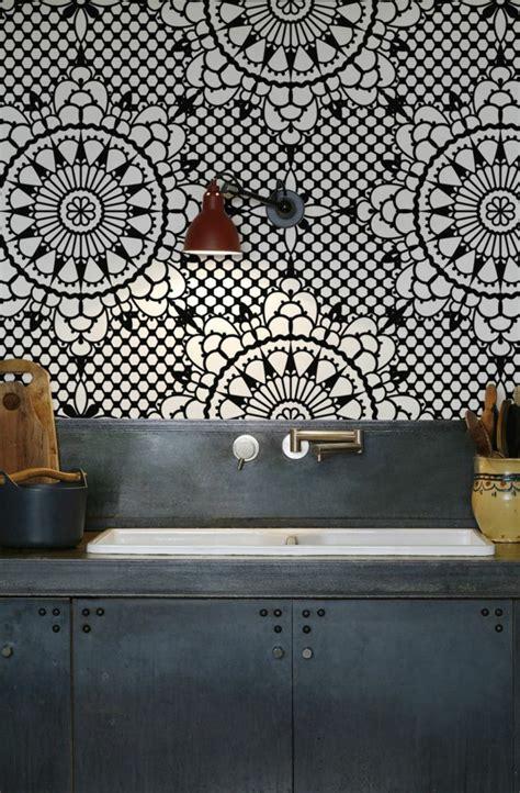 tapisserie cuisine leroy merlin le papier peint géométrique en 50 photos avec idéеs