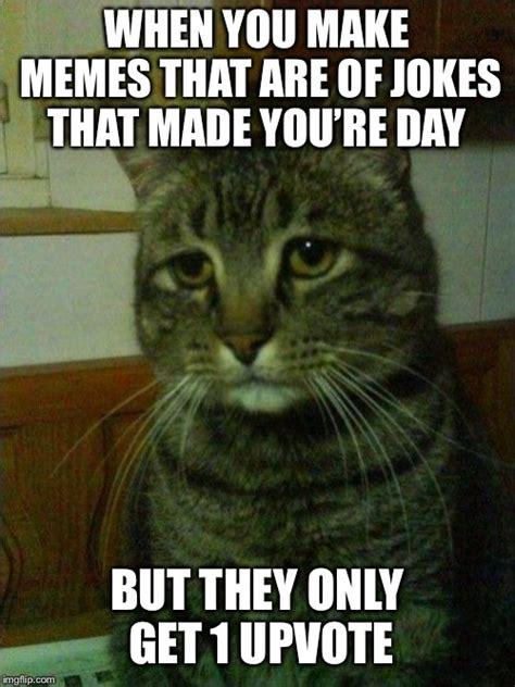 depressed cat memes imgflip