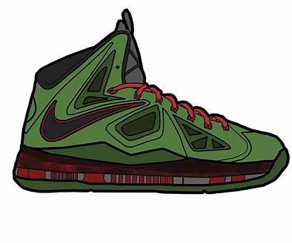 Nike Drawing Lebron Shoes Vector Jade Getdrawings