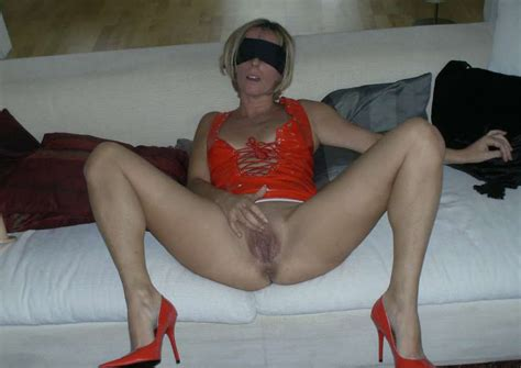 blindfolded milf in wild sex party