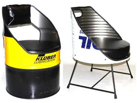 oil drum repurposed  seats  vaho recyclart