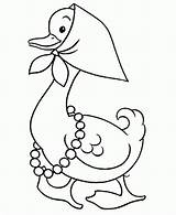 Coloring Goose Pages Popular Mother sketch template