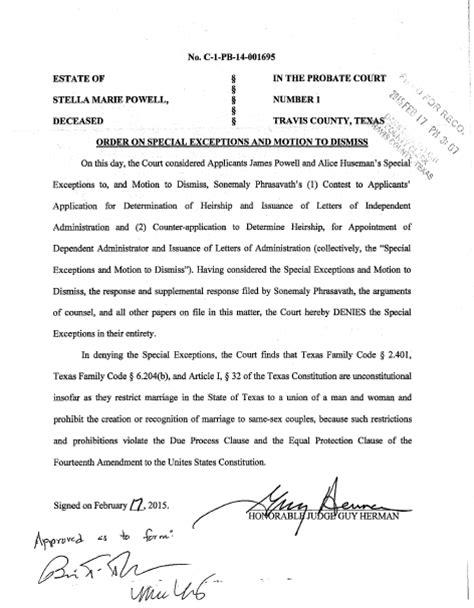 ellis forms dallas same sex marriage in texas yes then no dallas