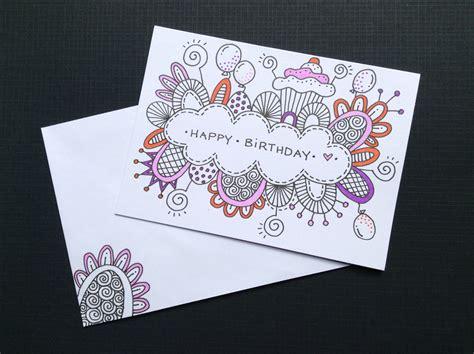 hand drawn birthday cards  images birthday card