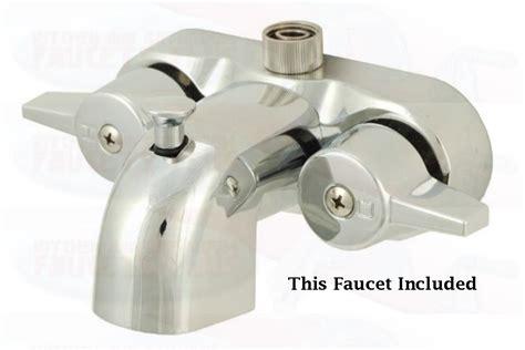 add shower to bathtub faucet chrome bathroom add a shower clawfoot tub diverter faucet