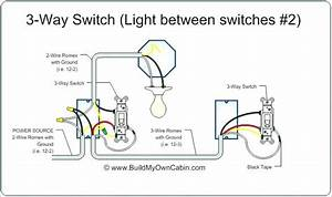 Three Way Switch Wiring Diagram Power Into Switch