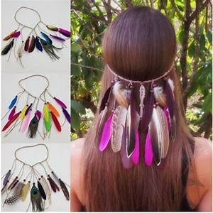 Hot, Sale, Women, Feather, Headwear, Hair, Accessories, Peacock, Feather, Head, Bands, Indian, Bohemian