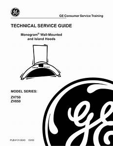 Monogram Stainless Steel Range Hood Service Manual